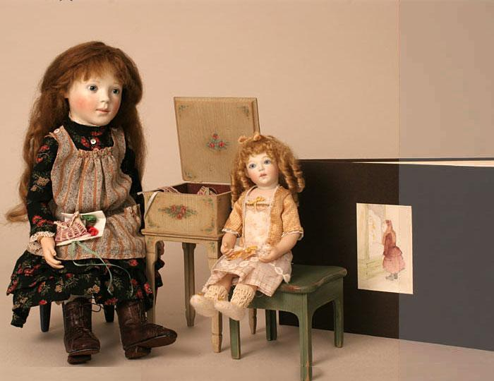 Mirabelle 2nd edition with Cecile and workbox