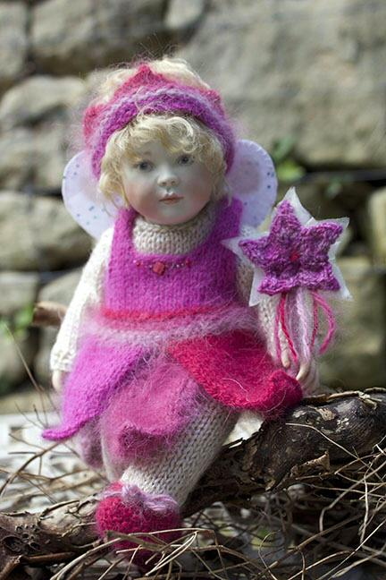 Christmas Baby Bonnie in her lovely angora fairy dress in gorgeous shades of pink. Christmas Baby Bonnie was an edition of just 15pieces worldwide and is now sold out.