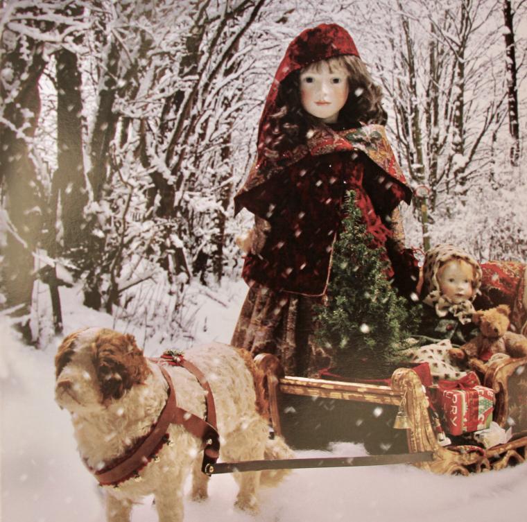 'Winter Sleighing' OOAK Cicely & Bonnie 2012