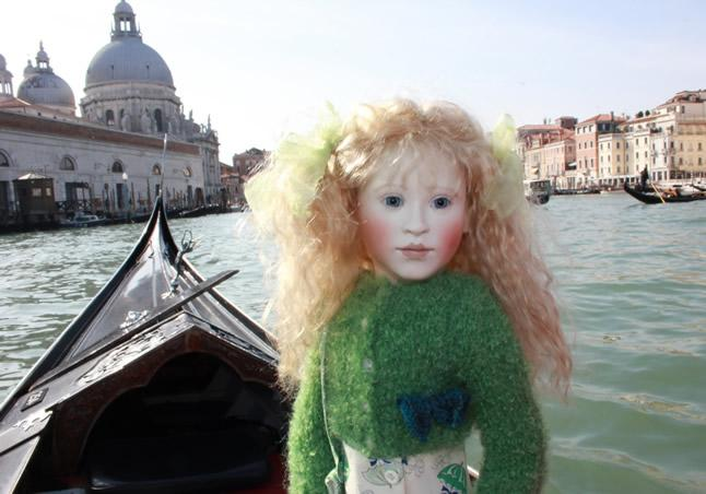 Lillian sightseeing in Venice
